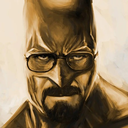 Breaking Bad and Batman mashup named Heisenbat digital painting by Adam Miconi