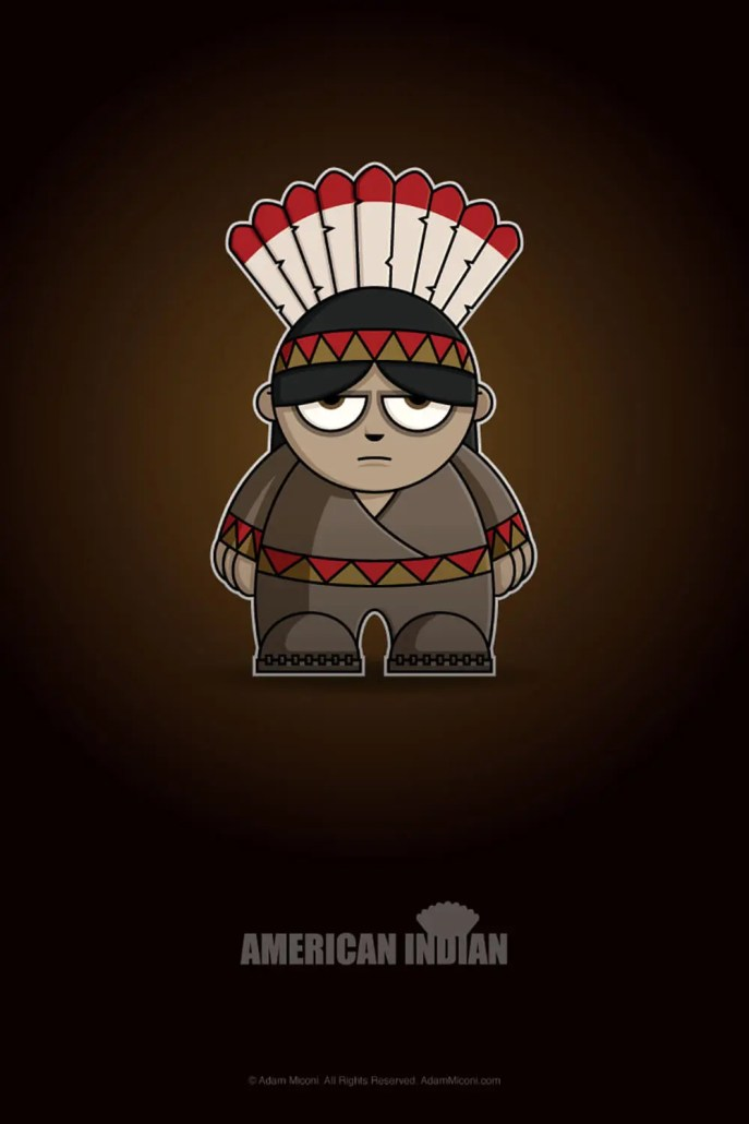 Native American Chibi by Adam Miconi