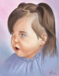 Rylee digital portrait painting by Adam Miconi