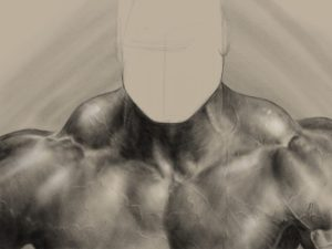 Neck Study with digital charcoal in Procreate app by Adam Miconi