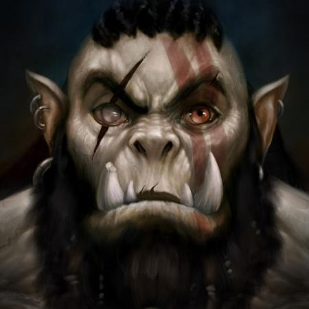 Orc Portrait by Adam Miconi