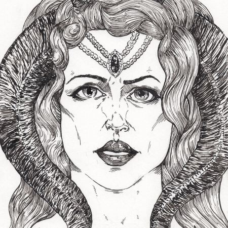 Lady with Horns by Adam Miconi