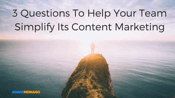 How to Avoid Becoming Hamsters On Wheels: 3 Questions That Will Simplify Your Content Marketing
