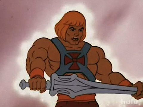 Classic image from the original animated He-Man series