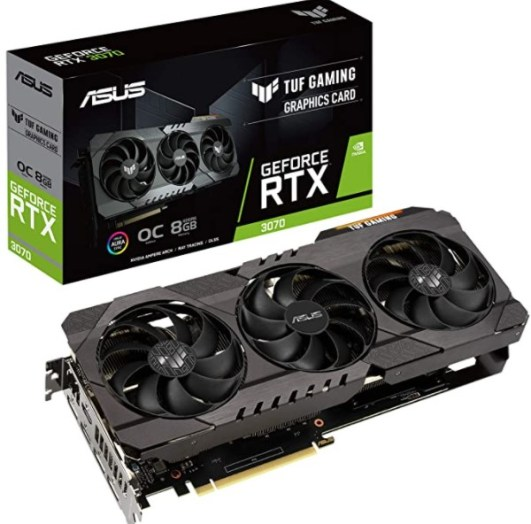 ASUS TUF Gaming NVIDIA GeForce RTX 3070 OC Edition Graphics Card