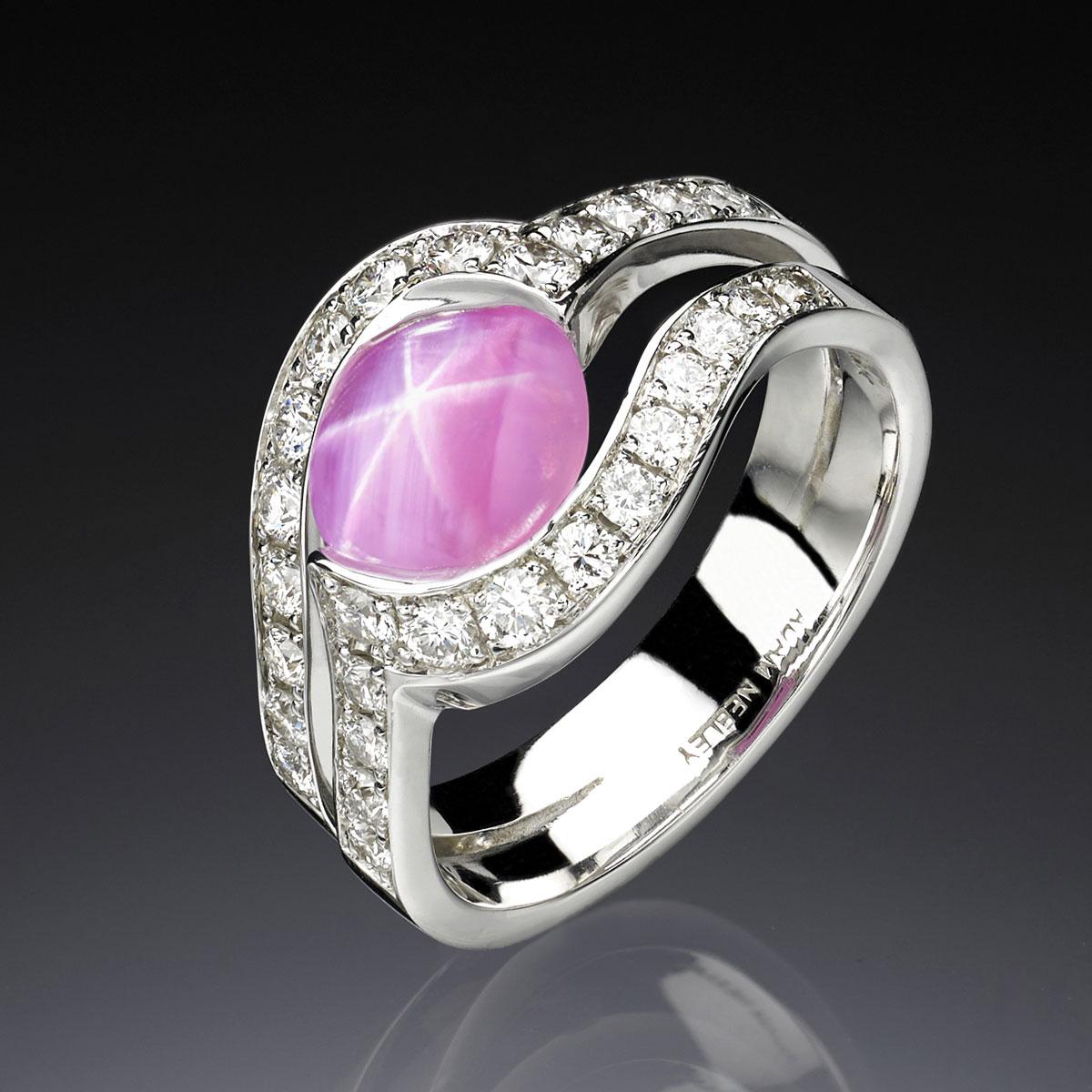 Rose Star Sapphire Ring