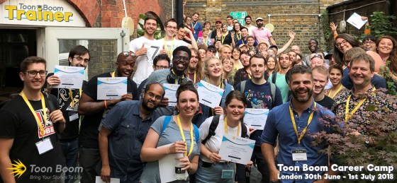Toon Boom group photo from the career camp in London