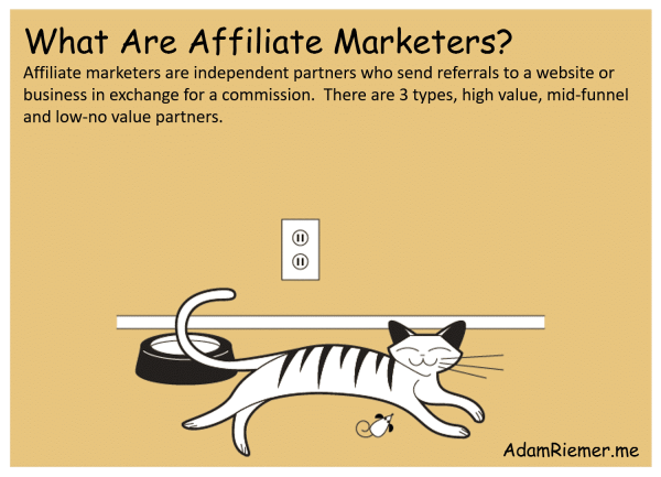 what are affiliate marketers