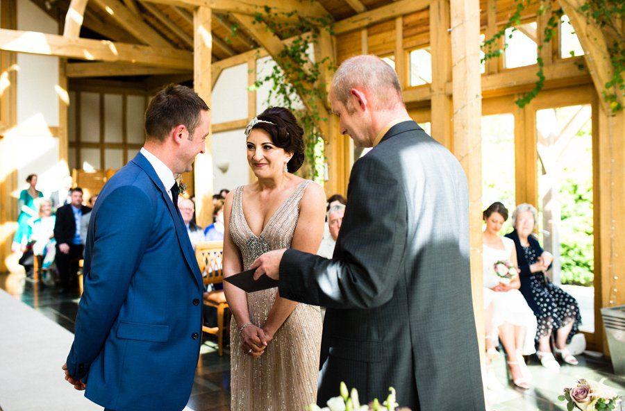 wedding ceremony peover