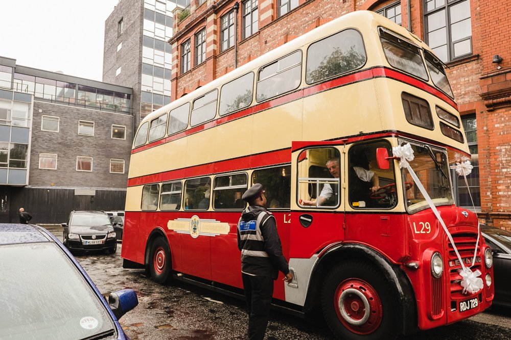 wedding bus manchester