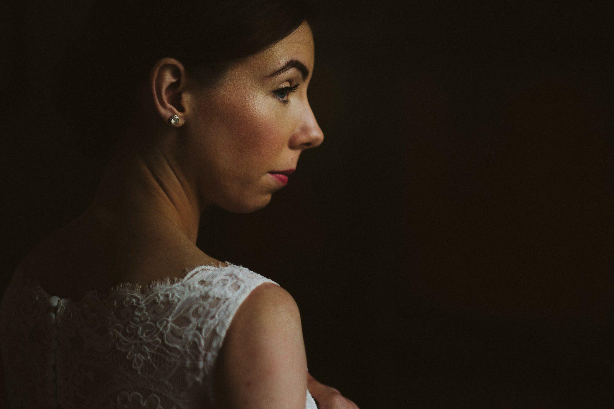 bride getting ready peckforton castle