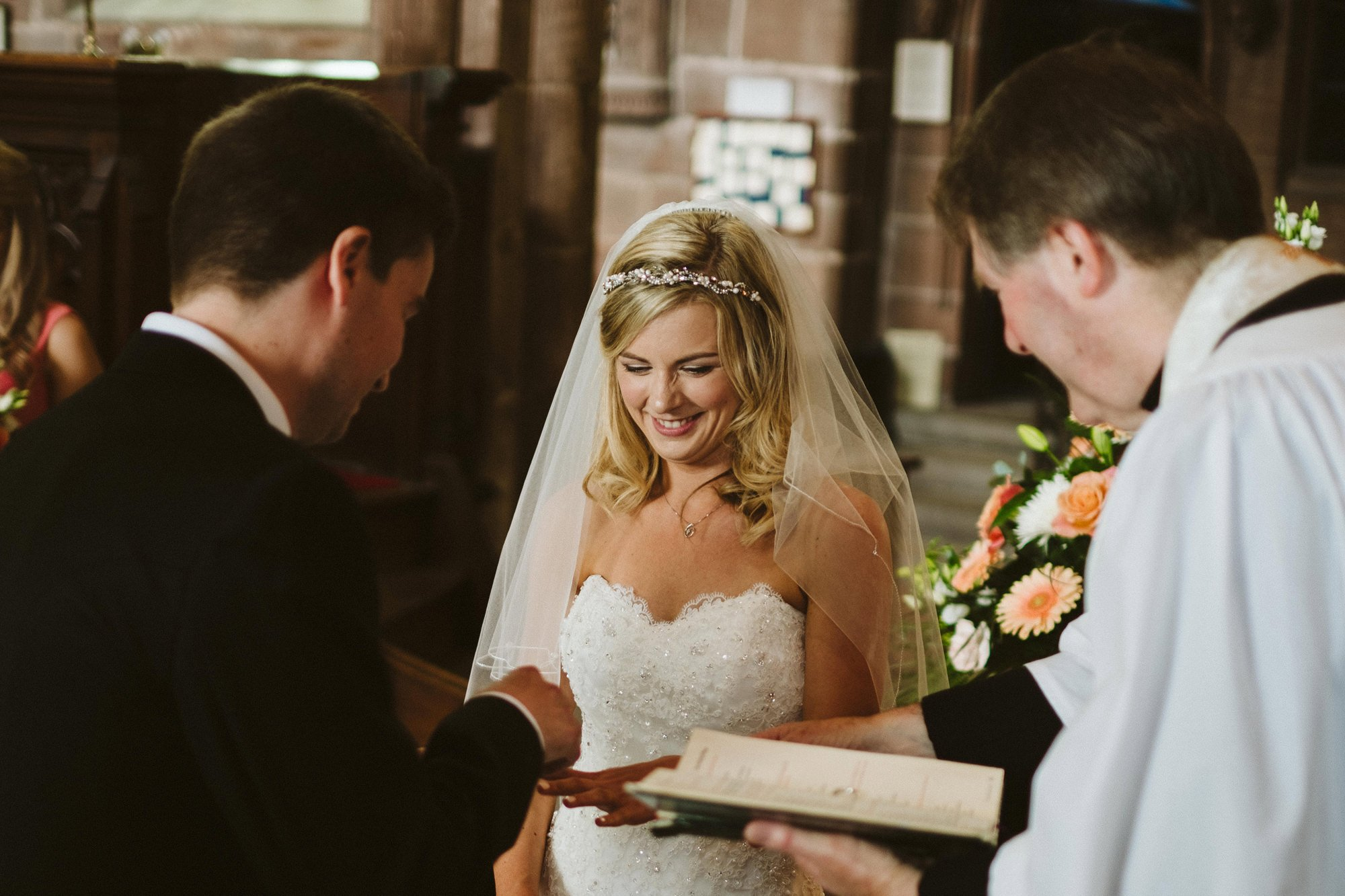 bride great budworth church wedding ceremony