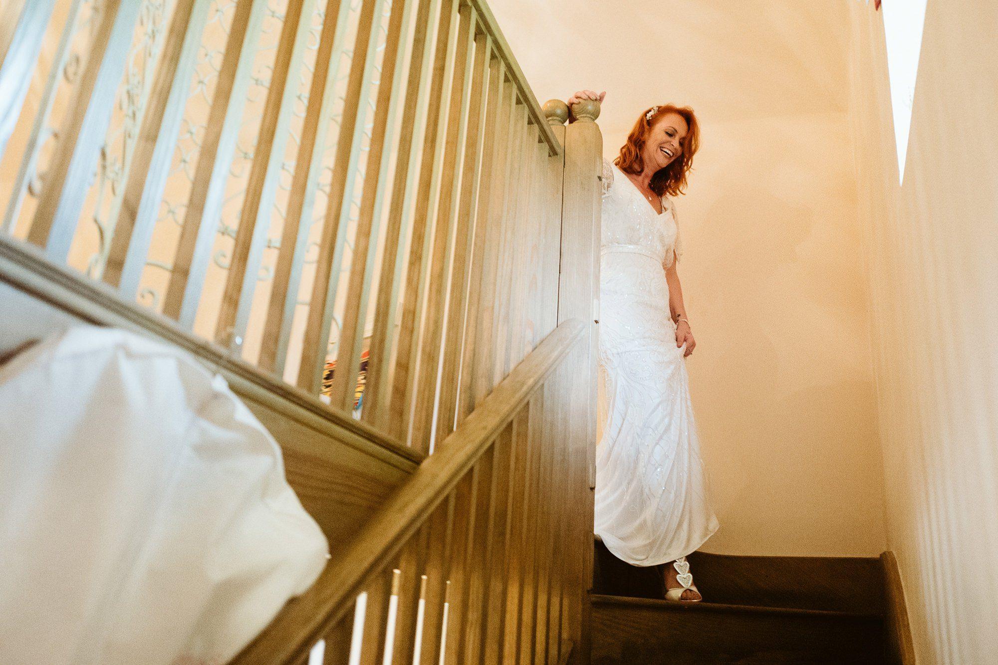 bride getting ready gaynes park