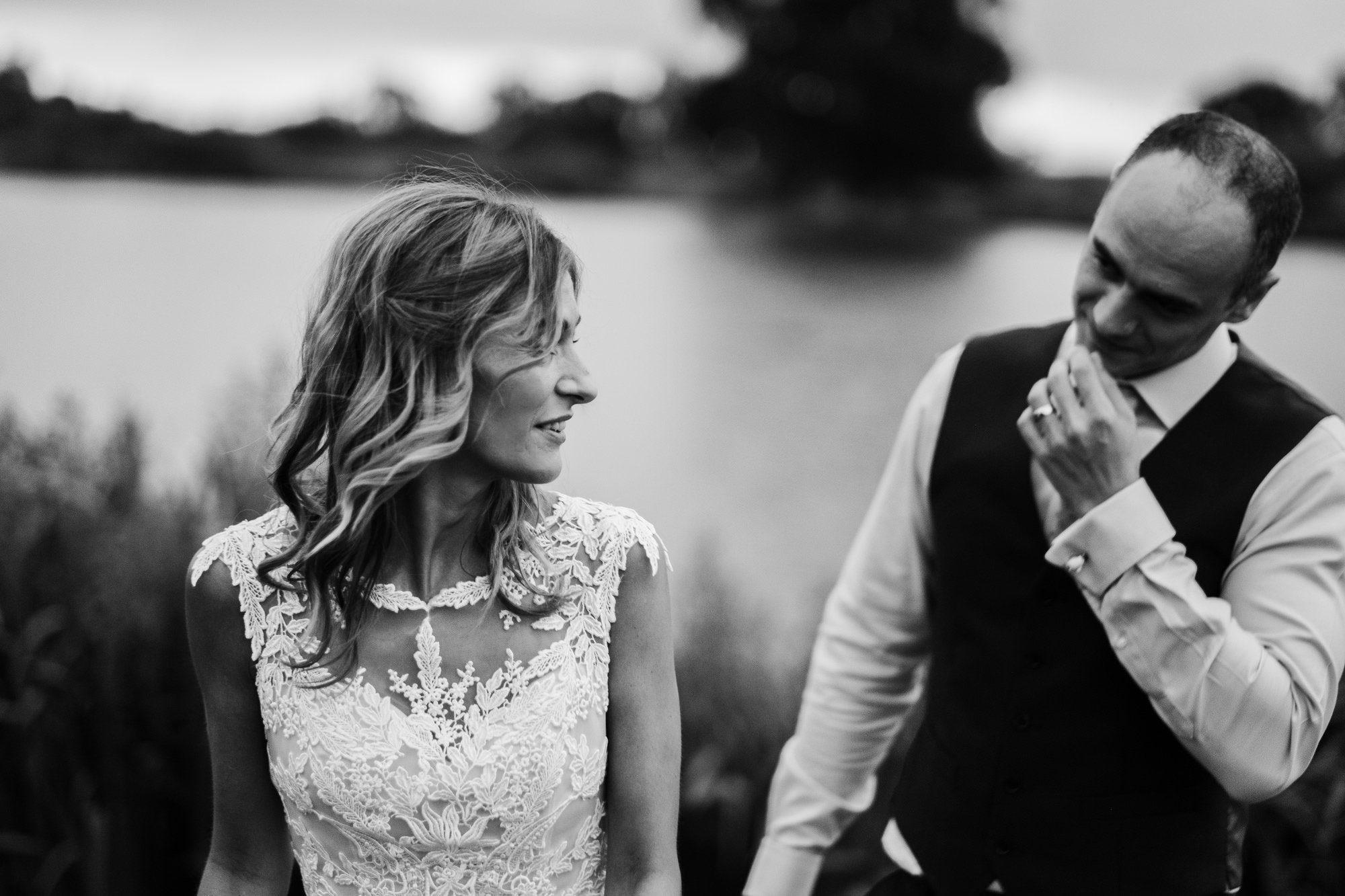 bride and groom sandhole lake