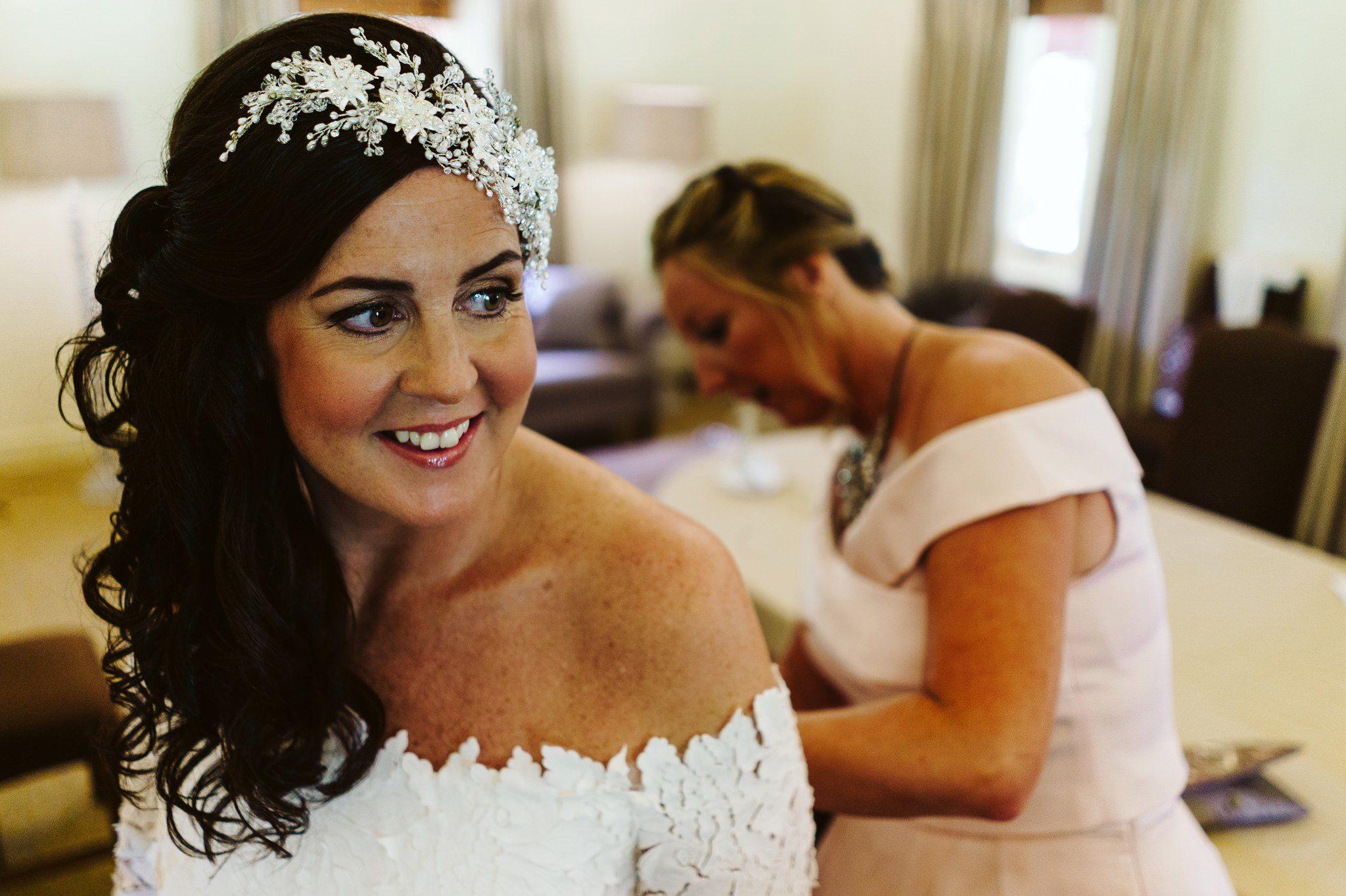 bride getting ready waddesdon manor
