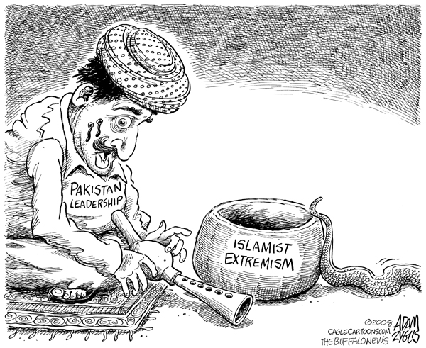 The case of Pakistan is becoming more complex. Unchrted waters, anyone? (Cartoonist - Adam Zyglis; courtesy - http://www.adamzyglis.com). Click for larger image.