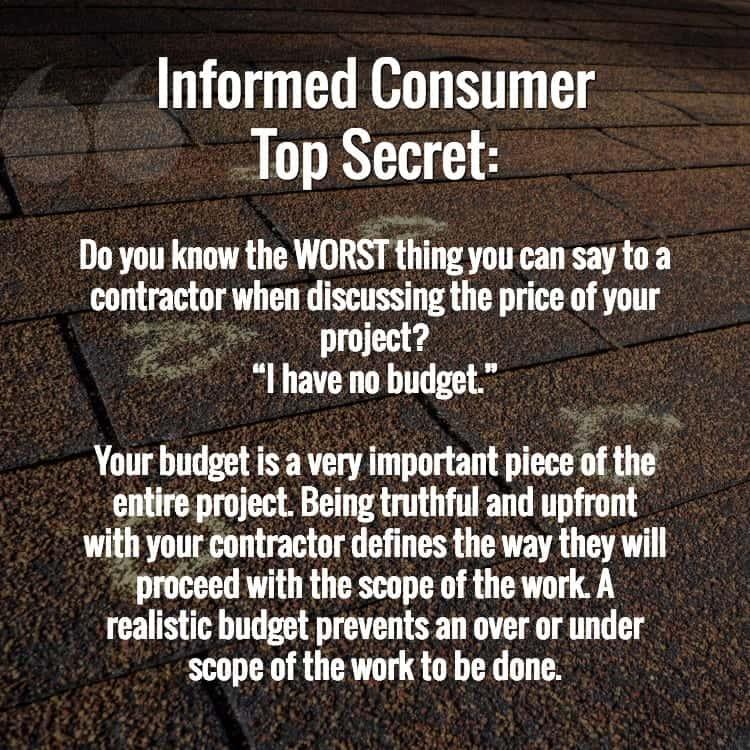 budget secrets from contractors