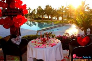 otelde evlilik teklifi