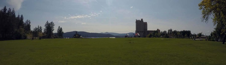Tubbs Hill and The Coeur d'Alene Resort ass seen by McEuan Field