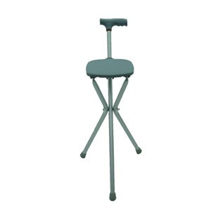 Tripod folding walking stick or seat