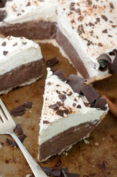 NO BAKE CINNAMON FRENCH SILK PIE