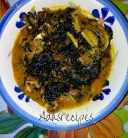 bitter leaf soup(ofe onugbu)