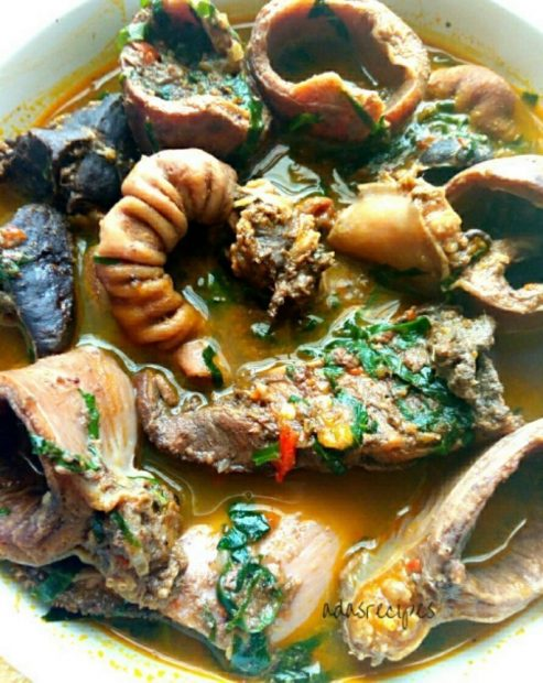 Prepare Hot Appetizing Cow Organ Meat Pepper Soup