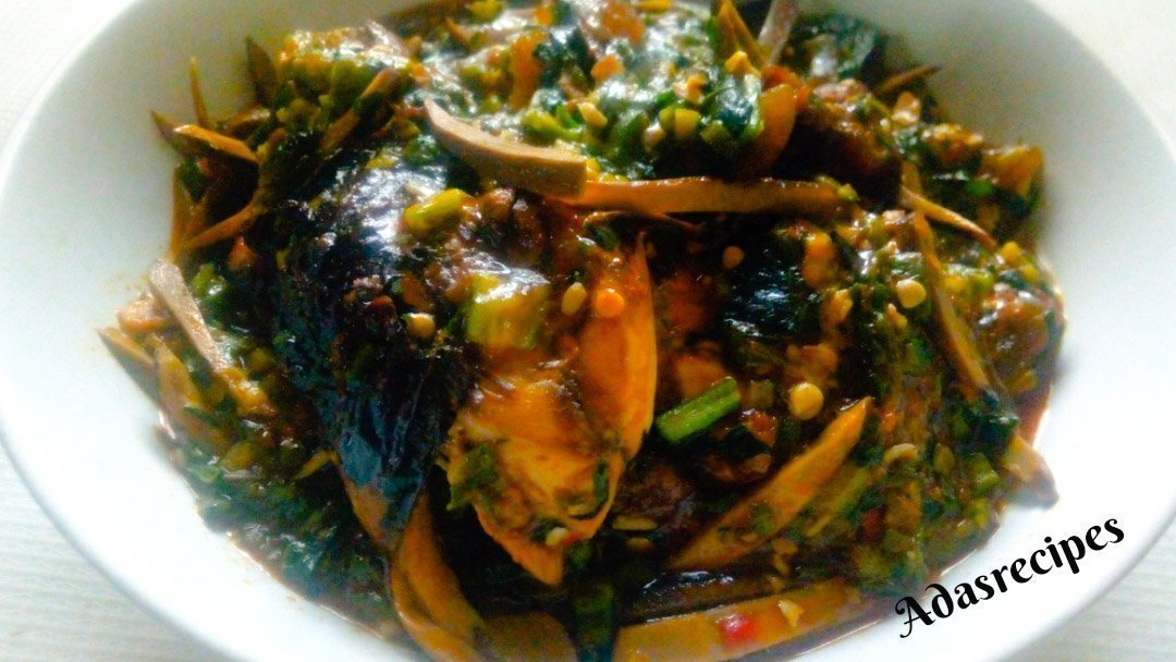 Ofe Ugba(Shredded Oil Bean Soup) Recipe