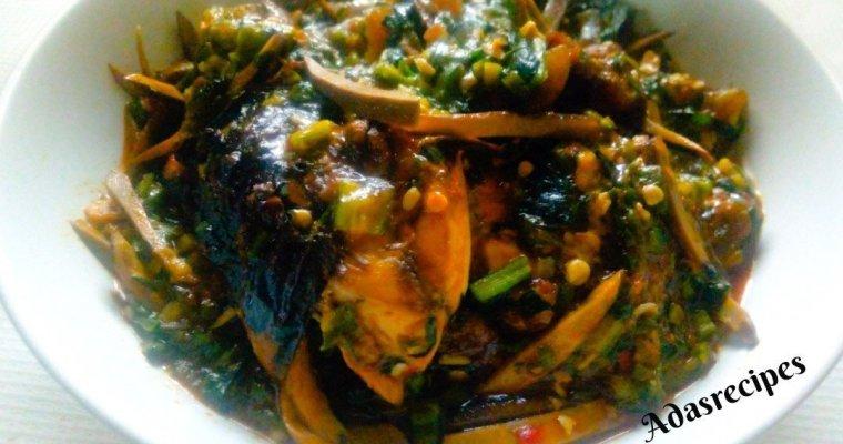 Ofe Ugba(Shredded Oil Bean Soup) Recipe