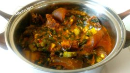 Okro soup with Ogbono