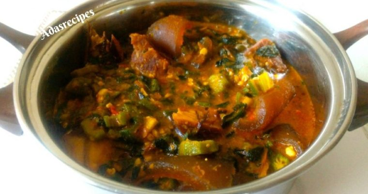 How to Make Okro Soup with Ogbono