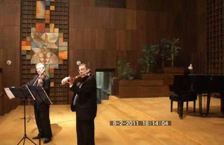 A Reiter Duó a Somorjai zeneiskola koncerttermében