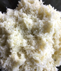 Grated cauliflower