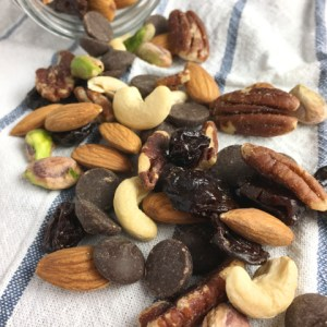 A scattering of trail mix