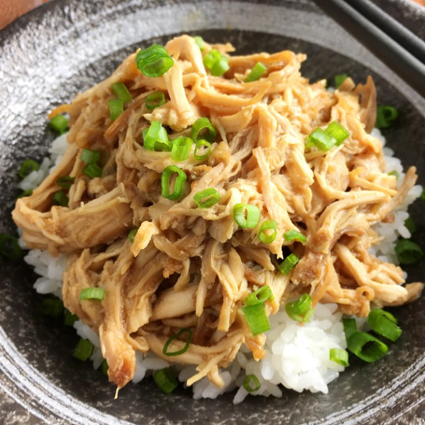 Slow Cooker Teriyaki Pulled Chicken