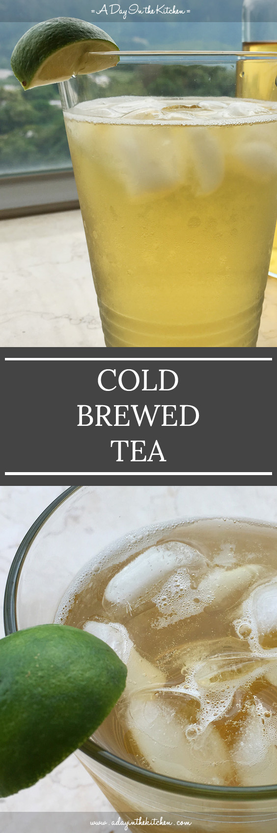Cold Brewed Tea is a refreshing drink that is smooth and not bitter. Perfect for those hot summer days! #coldbrewedtea #tea #icedtea #coldbrew
