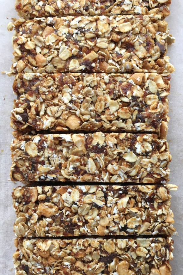 Several Simple Nutty Granola Bars side by side