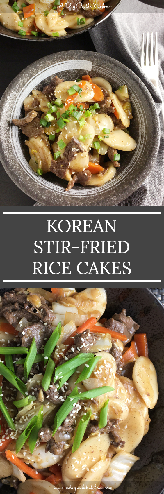 Korean Stir Fried Rice Cakes A Day In The Kitchen