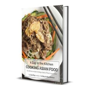 Bound book of A Day in the Kitchen Cooking Asian Food