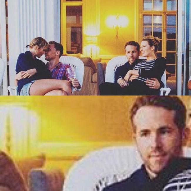 「看膩了這對不斷放閃的情侶嗎?」死侍 Ryan Reynolds 照片上的表情說出所有人的心聲! ‧ A Day Magazine