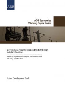 Government Fiscal Policies and Redistribution in Asian Countries     Government Fiscal Policies and Redistribution in Asian Countries