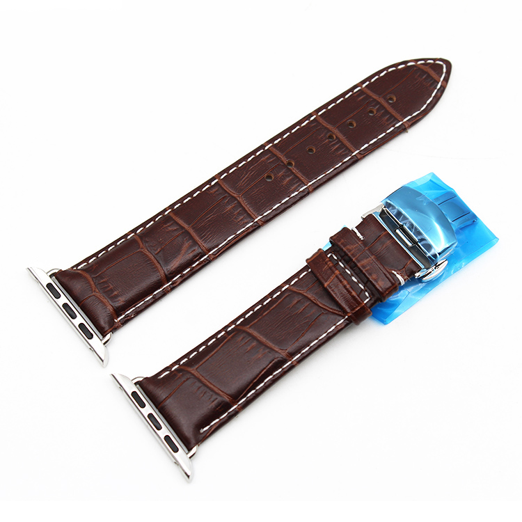 apple watch band leather brown crocodile 38mm