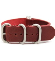 leather zulu strap red cowhide vintage