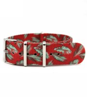 custom best nato watch strap 20mm eacock Feathers Printed
