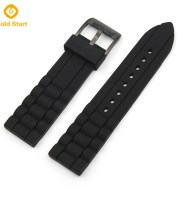 Black Silicone watch band manufacturer military