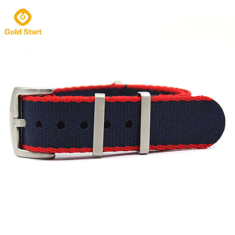 blue red seatbelt nato straps nylon