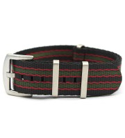 seatbelt nato nylon strap black red green heavy duty