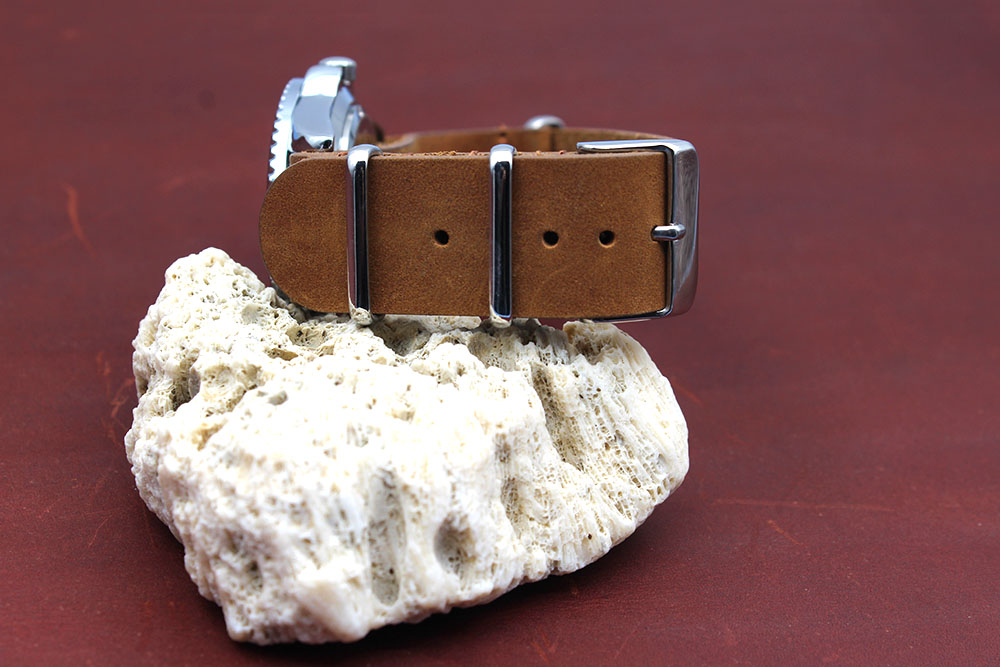 crazy horse leather nato watch strap 20mm