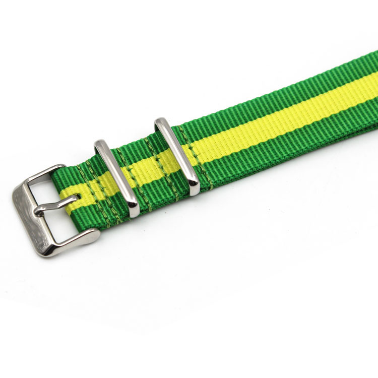 green yellow sriped nato strap custom china
