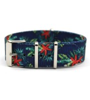 nato watch bands blue floral graphic
